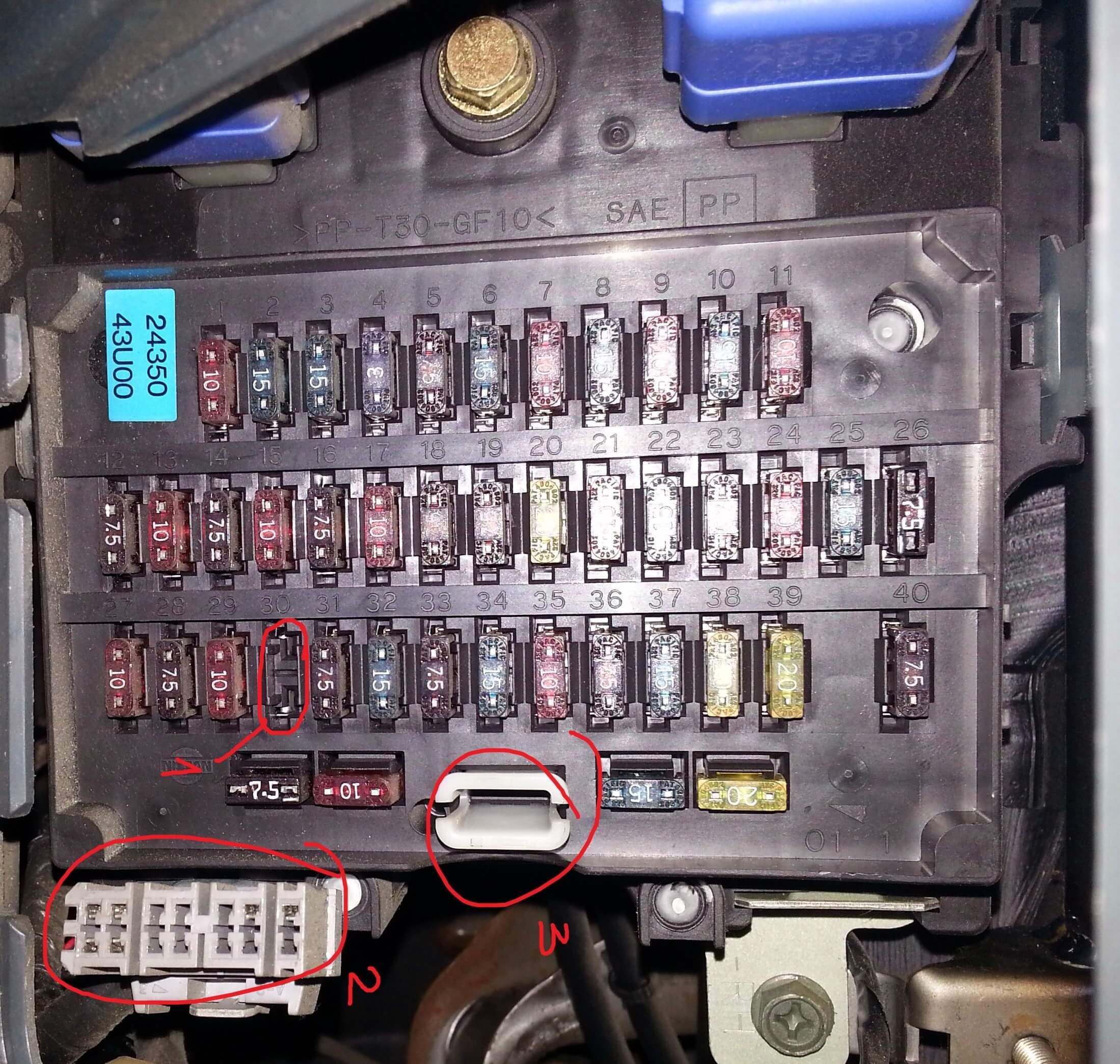 Схема предохранителей максима а32