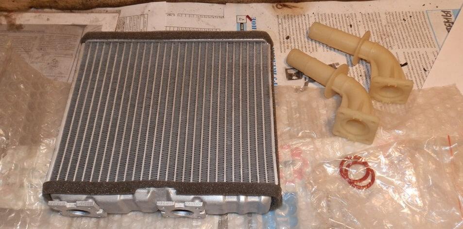 замена радиатора печки цефиро