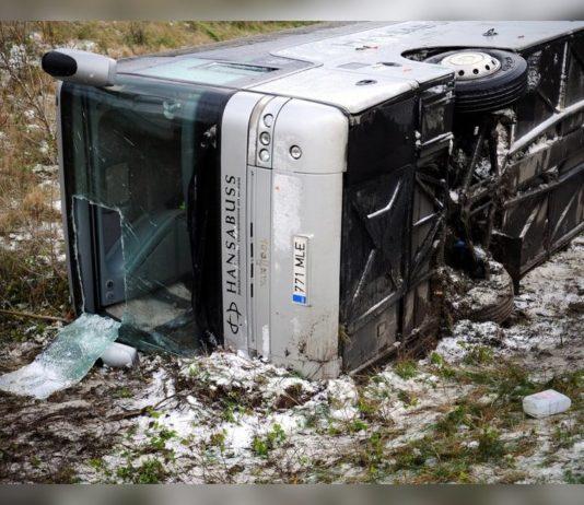ДТП в Эстонии с участием автобуса