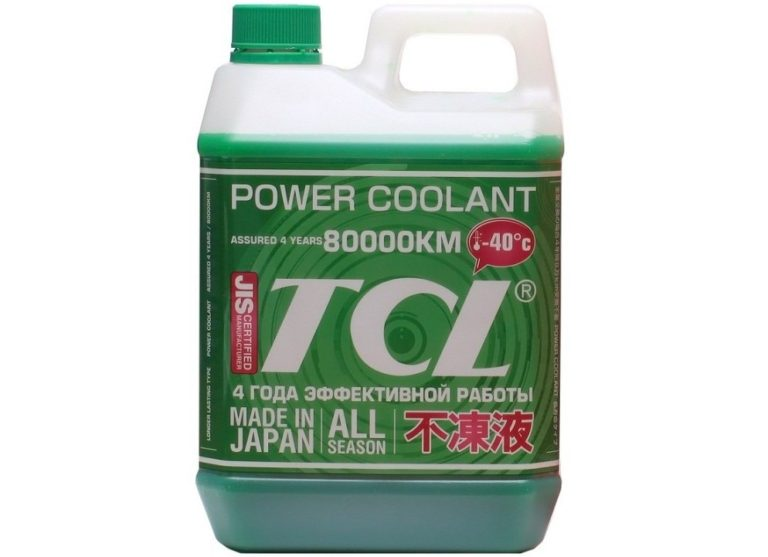 лучший Японский антифриз - TCL Power Coolant Green