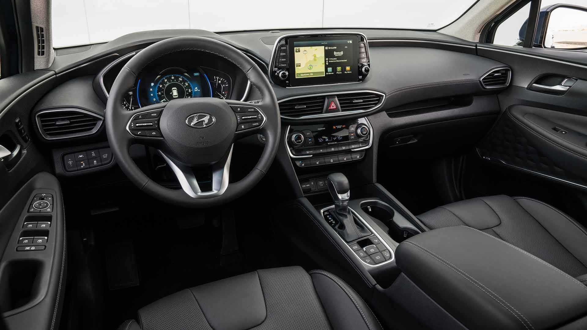 Hyundai Santa Fe 2019 интерьер